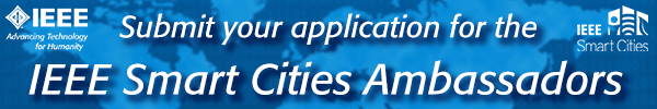 Apply today to be an IEEE Smart Cities Ambassador
